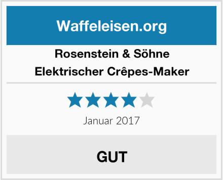 Rosenstein & Söhne Elektrischer Crêpes-Maker Test