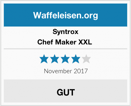 Syntrox Chef Maker XXL  Test