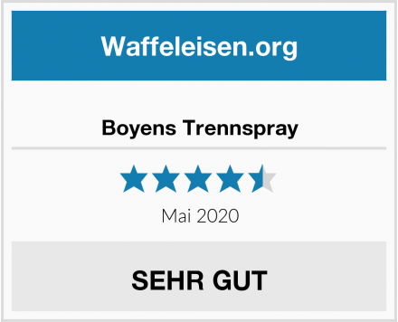 Boyens Trennspray Test