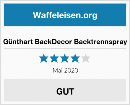 Günthart BackDecor Backtrennspray Test
