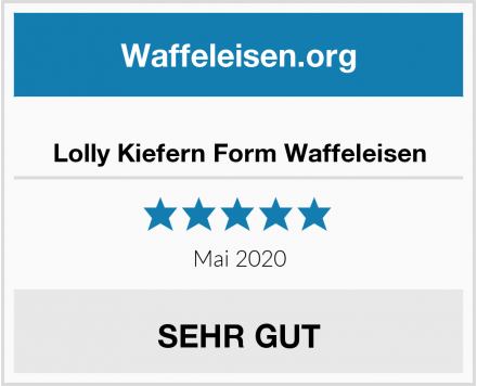Lolly Kiefern Form Waffeleisen Test