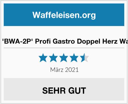Beeketal 'BWA-2P' Profi Gastro Doppel Herz Waffeleisen Test