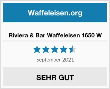 Riviera & Bar Waffeleisen 1650 W Test
