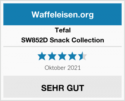 Tefal SW852D Snack Collection Test