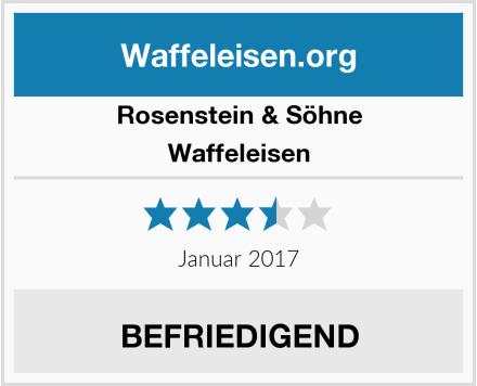 Rosenstein & Söhne Waffeleisen Test