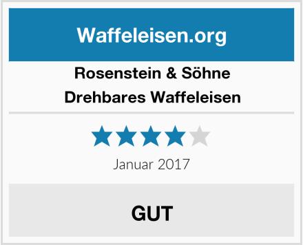 Rosenstein & Söhne Drehbares Waffeleisen Test