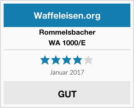 Rommelsbacher WA 1000/E Test