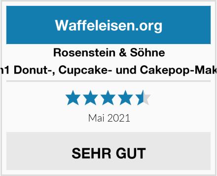 Rosenstein & Söhne 3in1 Donut-, Cupcake- und Cakepop-Maker Test